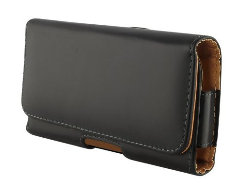 One ME Holster, TURTLE Leather Holster Carry Case Cover Pouch with Belt Clip Case for HTC One ME - Black
