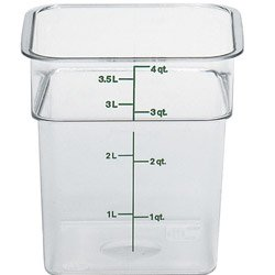 Clear Camwear Camsquare Food Storage Containers, 4 Quart (4SFSCW) Category: Square Storage Containers and Lids