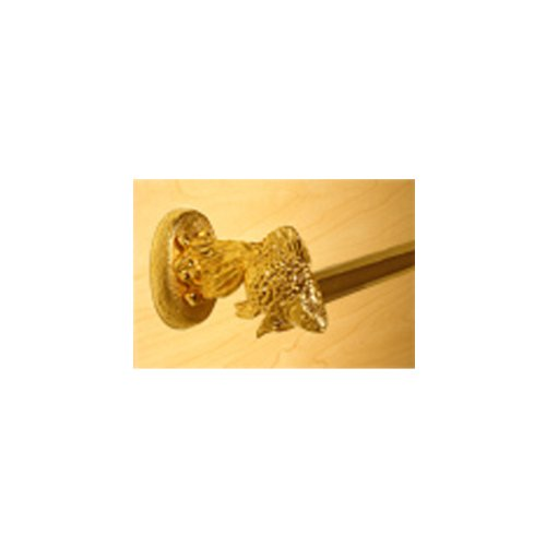Functional Fine Art Bathroom Accessories Fantail Goldfish 18 Inch Towel Bar Gold Finish