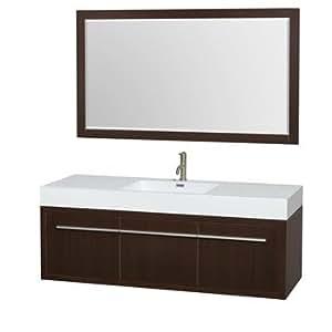 Axa 60 Inch Wall-Mounted Single Bathroom Vanity Set With Integrated