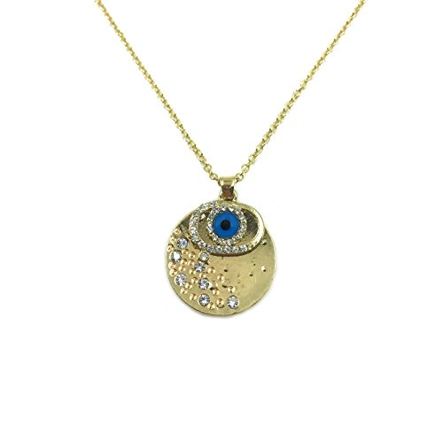 3709womens gold crystal evil eye pendant charm necklace for 3709womens gold crystal evil eye pendant charm necklace for protection luckyeye jewelry aloadofball Choice Image