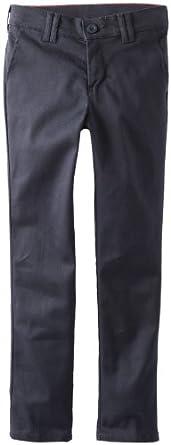 Dickies Big Girls'  Stretch Skinny Straight Pant, Dark Navy, 8