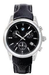 BMW Men's Sporty Chronograph Watch Black Dial And Band