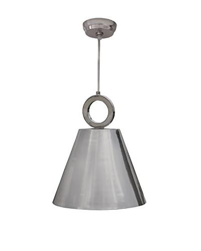 Design Craft Olsen 1-Light Pendant, Polished Nickel Finish