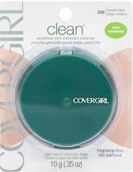 CoverGirl Clean Pressed Powder, Sensitive Skin, Fragrance-Free, Creamy Beige 250