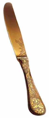Mepra Casablanca Ice Oro Table Knife, Gold Matt, Set Of 12