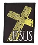 "Tm Bishop - Rough Stone Cross Gold Premium Quality Patch 2.75"" x 3.5"" Embroidered NEW"