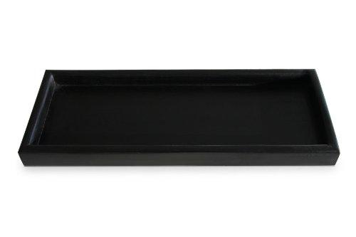 Holztablett Vintage, schwarz, Echtholz von NORR11