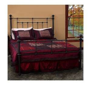 Queen Size Steel Frame Bed. Quality Bed Room Furniture. Head Board and Foot Board Queen Size Mattress. Matte Black Finish.