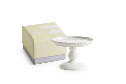 Rosanna 89170 Décor Bon Bon Hue Beaded Pedestal, Small, White (Milk Glass Pedestal Bowl compare prices)