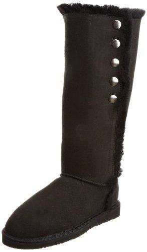 WLM New Zealand Women's Buttons Black Knee High Boots BUTBLK 5 UK, 38 EU, 6 US