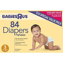 Babies R Us Diapers 84 count Size 3 for 16-28lbs - 1