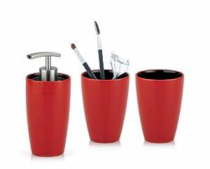 accessoire de salle de bain rouge - Accessoire De Salle De Bain Rouge