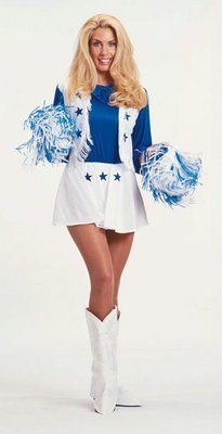 Dallas Cowboys Cheerleader Costume Adult Small 4-6