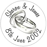 Eternal Design 140 Personalised Wedding Day White Envelope Seals Stickers (WD12)