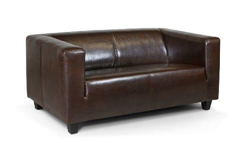 B-famous-2-Sitzer-Sofa-Kuba-149-x-88-cm-Kunstleder-braun