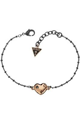 Guess Ladies' Single Heart Bracelet Rose Gold Plated UBB81040
