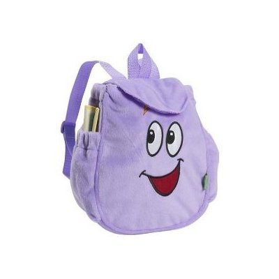 Dora the Explorer Mr Face Purple Plush Backpack Bag Including MAP