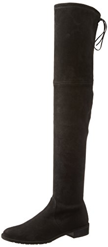 Stuart Weitzman Women's Lowland Riding Boot, Black, 8.5 M US