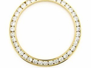 Midsize 2ct Channel Set Diamond Bezel 14ky for Rolex