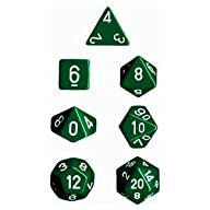 Polyhedral 7-Die Opaque Dice Set – Gr…