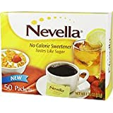 No Calorie Sweetener - Tastes Like Sugar, 50 packets,(Nevella)