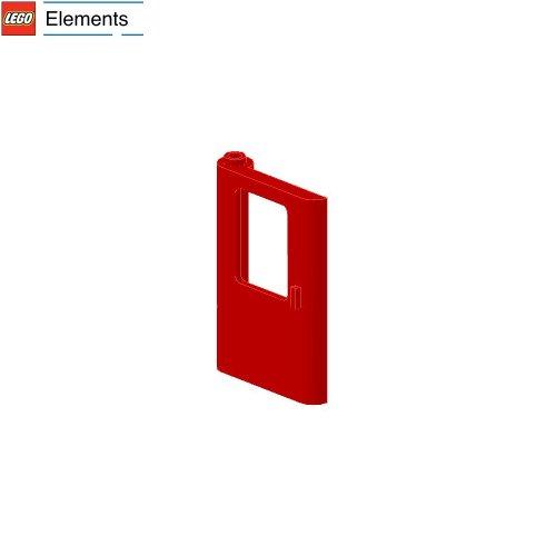 Lego Parts: Door 1 X 4 X 5 Train (Hinge On Left Side) (Red)