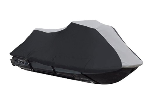 600 Denier Jet Ski Pwc Cover Fits Sea Doo Bombardier Rx Di 2000 2001 2002 2003 Black/Grey front-1078806
