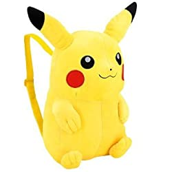 13&quot; Tall Pokemon Pikachu Plush Backpack