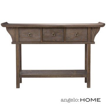 Cheap angelo:HOME Kara Console Table in Weathered Oak Finish (CK9993)
