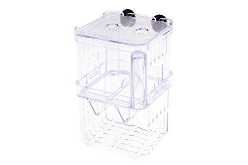 Saim® Retangle Form Breeding Divider Tank for Aquarium, Hang-On Breeding Box, Small