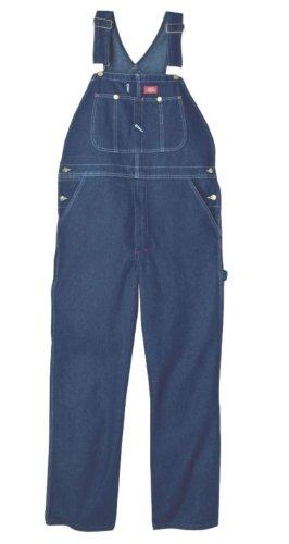 Dickies Men's Big-Tall Denim Stone Washed Bib Overall, Stone Washed Indigo Blue, 46x32 Big Tall Denim Jackets