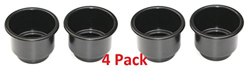 3 5/8 Black Jumbo Cup Boat RV Car Truck Poker Pool Table Sofa Inserts Large Size Free Shipping (4) (Rv Sofas compare prices)