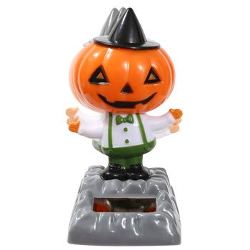 Solar Powered - Dancing Pumpkin with Hat - 1