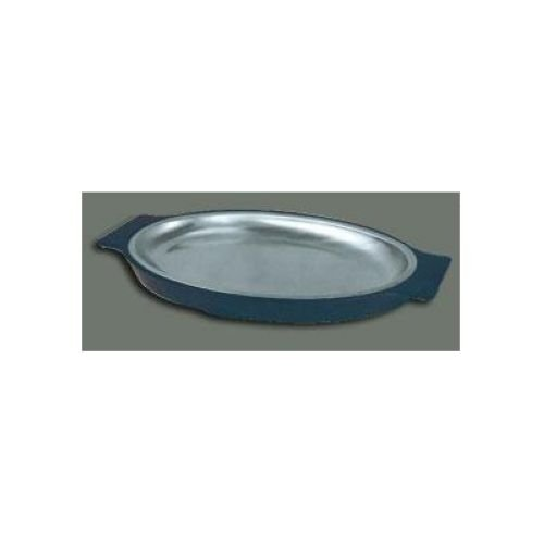 Winco SIZ-11 Stainless Steel Oval Sizzling Platter, 11-Inch (Stainless Steel Sizzle Platters compare prices)