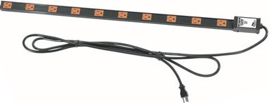 Middle Atlantic Long 20 Outlet, Single 20 Amp Circuit Thin Power Strip with Cord