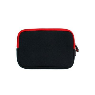 Samsung 10.1 inch Netbook N145-JP02 Interdict Neoprene with Red Zipper Extra Protection Sleeve Holder
