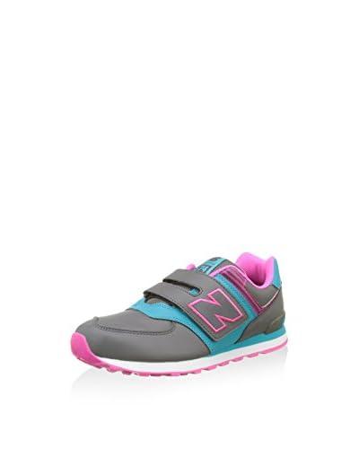 New Balance Sneaker NBKG574KHG [Grigio/Rosa]