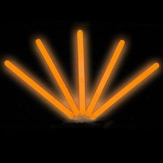 """4"""" Lumistick Glow Stick Light Sticks Orange (Tube of 25)"""