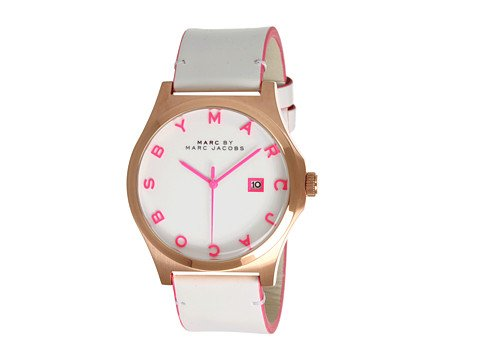 Marc Jacobs Henry White Dial Rose Gold-tone Steel