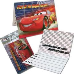 Disney World of Cars Invitations - 8/Pkg.