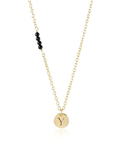 "Ettika Black Onyx ""Y"" Charm Necklace As You See"