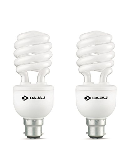 Bajaj Retrofit Miniz T3 Spiral 23 Watt CFL Bulb (Pack of 2,Cool Day Light)