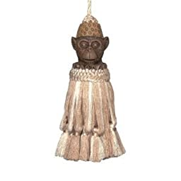 123 Creations CB053 Monkey natural hand painted tassel