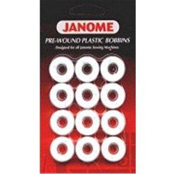 Janome Pre-Wound Plastic Bobbins Designed for all Janome Sewing Machines (Prewound Bobbins Janome compare prices)