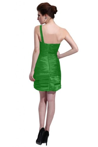 31GuAfuvkKL Special Offers: Emma Y Lady Womens One Shoulder Sheath Short Dress