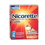Nicorette Stop Smoking Aid Cinnamon Surge Gum, Cinnamon Surge Gum - 100 each, Pack of 2