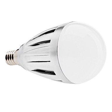 E14 4W 60X3528 Smd 300-320Lm 6000-6500K Natural White Light White Cover Led Ball Bulb (Ac 110-130/Ac 220-240 V) ( Voltage : 110V )