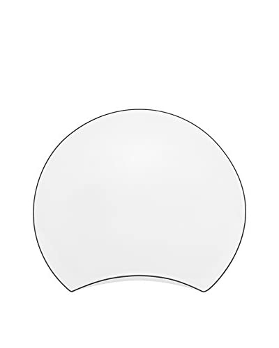 Guy DeGrenne Round New Moon Plate, White/Grey