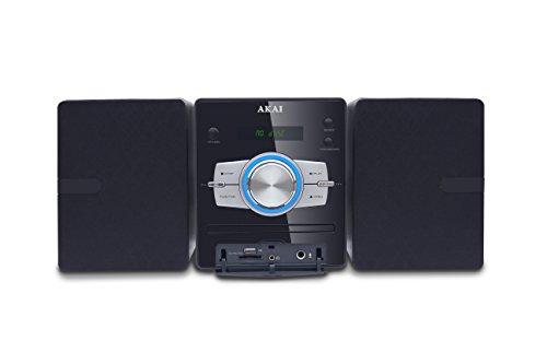 AKAI AMD330 Micro impianto stereo con radio, lettore DVD, Bluetooth e ingresso USB, Nero